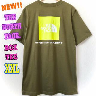 ザノースフェイス(THE NORTH FACE)のモスグリーン ☆ 新品 ノースフェイス BOX Tシャツ オリーブ XXL 3L(Tシャツ/カットソー(半袖/袖なし))