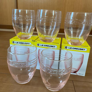 ルクルーゼ(LE CREUSET)のLE CREUSET ル・クルーゼ ガラスコップ5個セット(グラス/カップ)