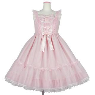 アンジェリックプリティー(Angelic Pretty)のAngelic Pretty Lovelyオーガンジージャンパースカート(ひざ丈ワンピース)