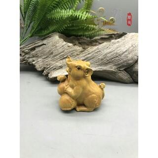 リス 飾り置物装饰摆件 美術工芸品  桧木材 彫刻工芸品(彫刻/オブジェ)