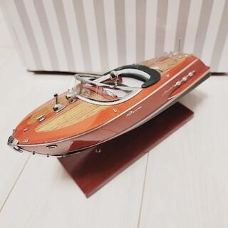 フランスのKiade Rivaボート 模型 ディスプレイ マホガニー木製 精密(彫刻/オブジェ)