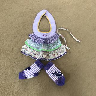 アナスイミニ(ANNA SUI mini)のアナスイミニ スタイ 靴下セット(ベビースタイ/よだれかけ)