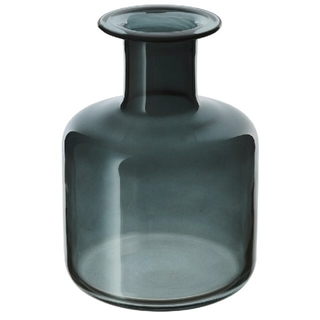 IKEA - IKEA ガラス 花瓶 グレー 17cm ペッパルコルン