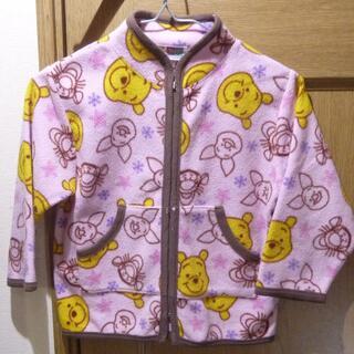 ディズニー(Disney)のディズニー プーさんのフリース上着 サイズ100 <a732>(ジャケット/上着)