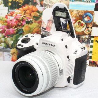 ペンタックス(PENTAX)の❤️人気のクリスタルホワイト❤️手ブレ補正機能付き❤️PENTAX K-30❤️(デジタル一眼)