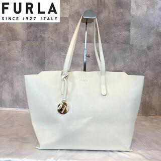 Furla - 【FURAL】フルラ サリー レザー ホワイト 大きめトートバッグ A4収納可能