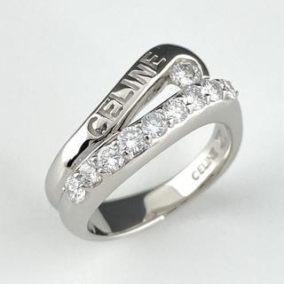 セリーヌ(celine)のセリーヌ ダイヤモンド デザインリング 11.5号 Pt900 【中古】(リング(指輪))