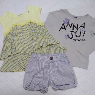 ANNA SUI mini - アナスイミニ チュニック風Tシャツ ロングTシャツ ショートパンツ