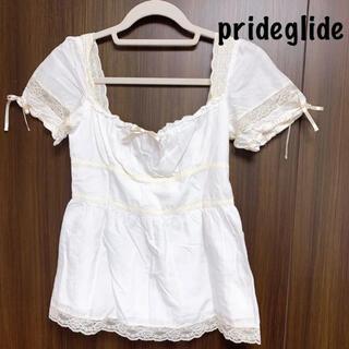 プライドグライド(prideglide)のprideglide:半袖ブラウス(シャツ/ブラウス(半袖/袖なし))
