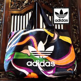 adidas - アディダス 激レア 花柄 パンジー ハンドバッグ ショルダーバッグ トートバッグ