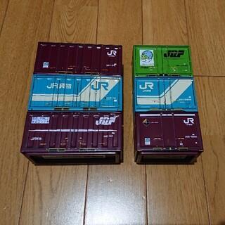 ジェイアール(JR)のJR 貨物 ブリック コンテナ ブリキ 缶 セット フル(鉄道模型)