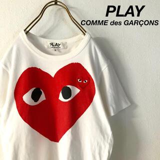 COMME des GARCONS - PLAY COMME des GARÇONS ビッグロゴ tシャツ  レッド