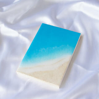 穏やかな海 アートパネル(小さな海シリーズ)SM  レジンアート(アート/写真)