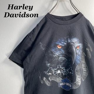 ハーレーダビッドソン(Harley Davidson)の【古着】ハーレーダビッドソン 両面プリント Tシャツ ブラック M 2177(Tシャツ/カットソー(半袖/袖なし))