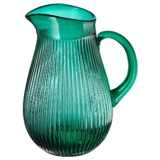 IKEA - IKEA ガラス 花瓶 ピッチャー グリーン サルスカプリグ