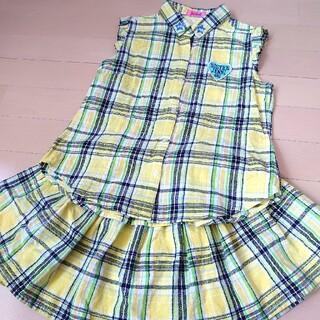 ジェニィ(JENNI)のSISTER JENNI  140 ノースリーブブラウス&スカート セットアップ(スカート)