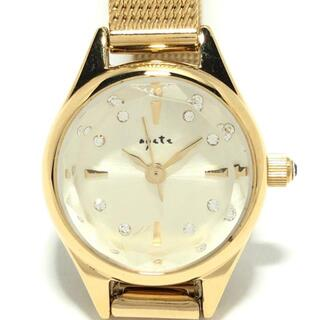 アガット 腕時計 - レディース ゴールド