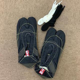 【無敵】伝統職人の匠技が創り出すランニング足袋 黒30.0cm(シューズ)