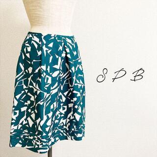 インデックス(INDEX)のINDEX SPB☆Aラインプリントスカート(ひざ丈スカート)
