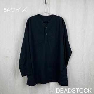 ワンエルディーケーセレクト(1LDK SELECT)の夏用54染黒 ロシア軍スリーピングシャツ スリーピングシャツ 薄手 m47(Tシャツ/カットソー(七分/長袖))