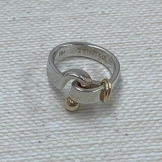 ティファニー(Tiffany & Co.)の★ティファニー フックアンドアイ リング SV925 K18 8号(リング(指輪))