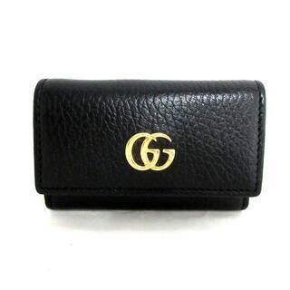 グッチ(Gucci)のグッチ キーケース美品  456118 黒 レザー(キーケース)