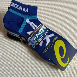 アシックス(asics)のアシックス 靴下 21-23cm 3足組 新品(靴下/タイツ)
