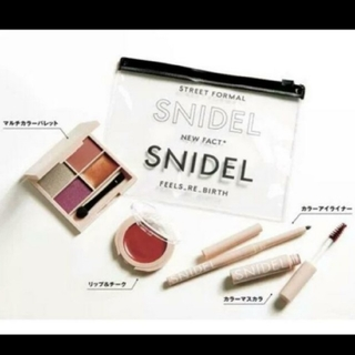 snidel - Sweet付録スナイデル コスメセット&クリアポーチ