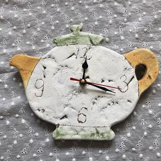 未使用 ポット型掛け時計