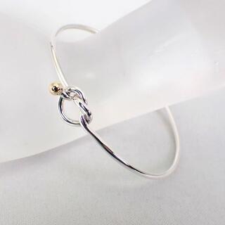 Tiffany & Co. - ティファニー SV925/750  フック&アイ バングル[g472-23]