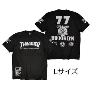 スラッシャー(THRASHER)のスラッシャーTシャツ 黒 L ロック スケードボード アウトドア サーフ(Tシャツ/カットソー(半袖/袖なし))