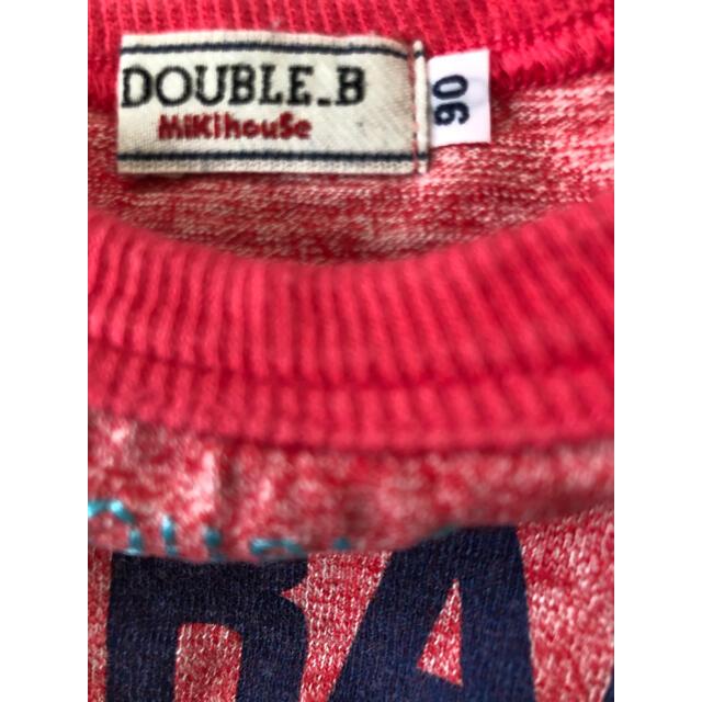 DOUBLE.B(ダブルビー)のミキハウス DOUBLE.B 90cm 上下セット キッズ/ベビー/マタニティのキッズ服男の子用(90cm~)(Tシャツ/カットソー)の商品写真