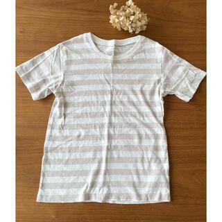 ムジルシリョウヒン(MUJI (無印良品))の無印 キッズ140 ボーダー半袖(Tシャツ/カットソー)