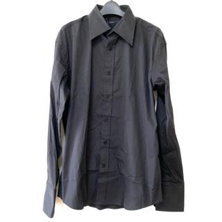 グッチ(Gucci)のグッチ 長袖シャツ サイズ41 メンズ - 黒(シャツ)
