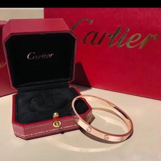 Cartier - カルティエ ラブブレス PG ピンクゴールド #17 新型 保証書付き
