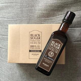 スキンフード(SKIN FOOD)のスキンフード ブラックシュガーファーストセラム美容液 コットンセット(美容液)