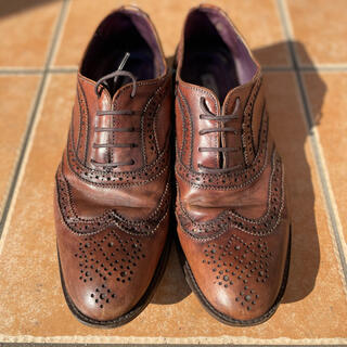 ZARA - Zara クラシック ビジネスシューズ 革靴 茶色 27cm