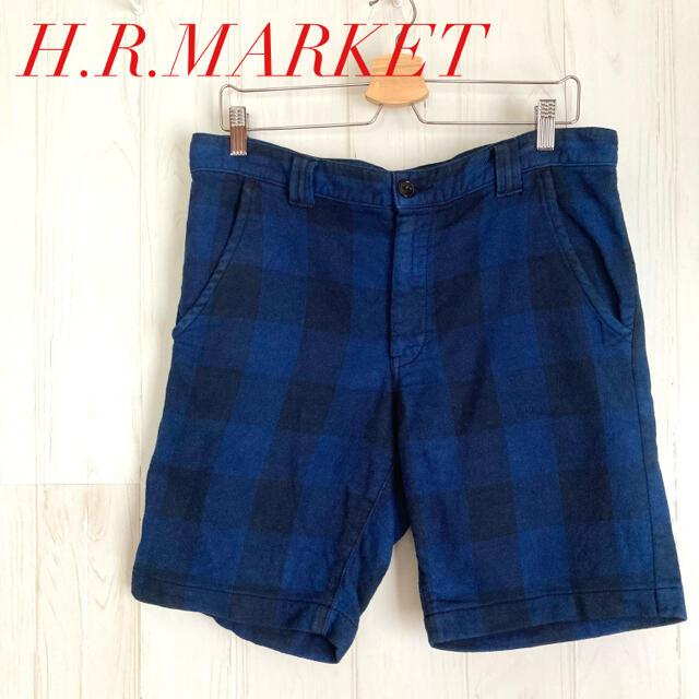 HOLLYWOOD RANCH MARKET(ハリウッドランチマーケット)のハリウッドランチマーケット 古着 ハーフパンツ チェック H.R.MARKET メンズのパンツ(ショートパンツ)の商品写真
