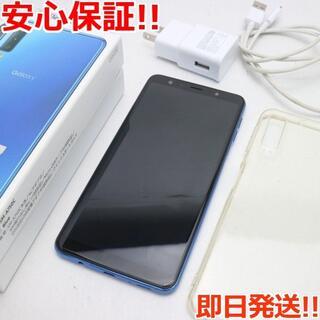 ギャラクシー(Galaxy)の美品 SIMフリー Galaxy A7 ブルー (スマートフォン本体)