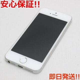 アイフォーン(iPhone)の美品 DoCoMo iPhoneSE 64GB シルバー 白ロム(スマートフォン本体)