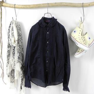 R by 45rpm コットン フリルカラーシャツ ブラウス 長袖 2 日本製