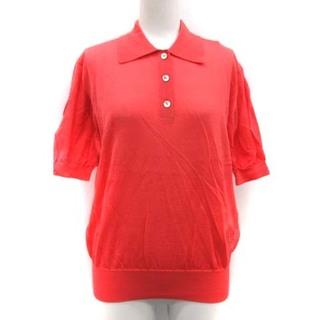 クリスチャンディオール(Christian Dior)のクリスチャンディオール L ポロシャツ ニット ヴィンテージ 半袖 ロゴ ピンク(ポロシャツ)