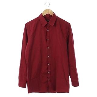 グッチ(Gucci)のグッチ Slim シャツ 長袖 イタリア製 40 赤 レッド ボルドー(シャツ)