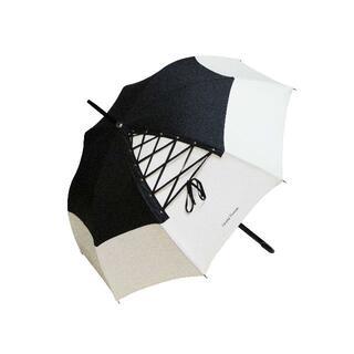 シャンタルトーマス(Chantal Thomass)のChantal Thomass 雨傘/日傘 レースアップ CT198:アイボリー(傘)