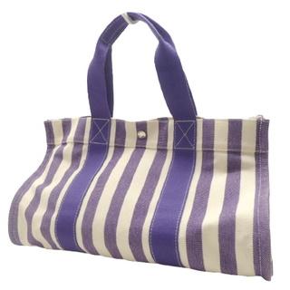 Hermes - エルメストートバッグ カンヌMM キャンバス パープル紫 40800074952