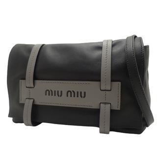 miumiu - ミュウミュウショルダーバッグ ブラック黒 グレー灰 40800074764