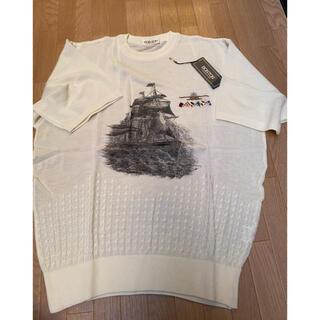 メンズ サマーセーター 半袖Lサイズ(ニット/セーター)