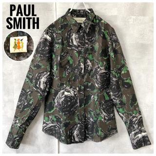 ポールスミス(Paul Smith)のシルク100%⭐️美品⭐️Paul Smith 花柄 フローラル ブラウン 40(シャツ/ブラウス(長袖/七分))