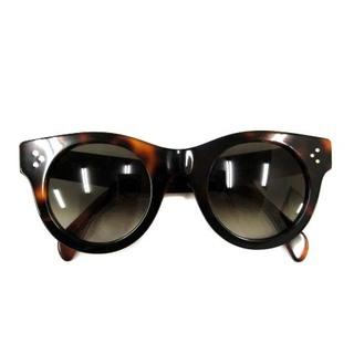 セリーヌ(celine)のセリーヌ サングラス 眼鏡 オーバル べっ甲柄 48□25 145 茶(サングラス/メガネ)