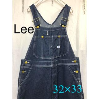 Lee - 古着 Lee デニム オーバーオール インディゴブルー 32×33